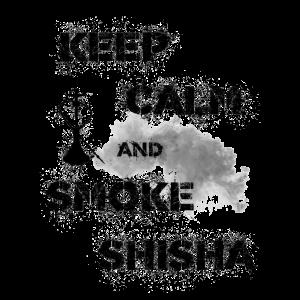 keep calm and smoke shisha black