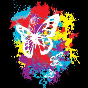Schmetterling Butterfly Blumiges Sommer Design