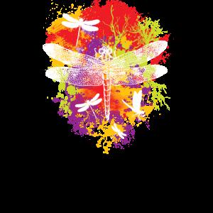 Farbenfrohe Libelle Sommerliches Design für Sie