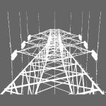 Strommast weiß
