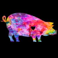 Schwein mit Herz