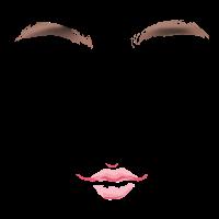 Gesicht mit schönen Lippen
