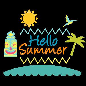 Flat Design Hello Summer - Geschenkidee