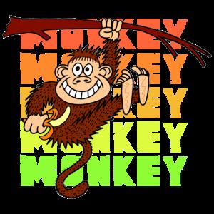 Affe aeffchen niedlich schimpanse kinder geschenk