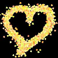 Herz gelb