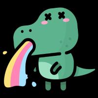 cool Dino T-Shirt Saurier witzig krank Dinosaurier