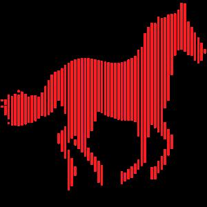 Pferd Linie
