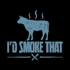 Lustiges Grill und BBQ Shirt Ich Räucher das