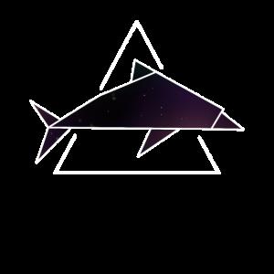 Delfin Origami Galaxie asiatisch Kunst Sterne