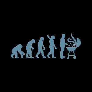Lustiges Grill und BBQ Shirt Evolution