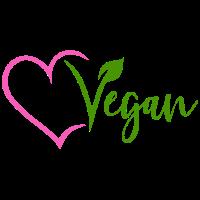 Vegan mit Herz Pink Veggie Vegetarisch Natur V