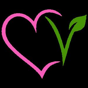Vegan Vegetarisch Herz Pink Veggie Natur V Pflanze