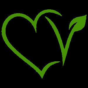 Vegan Vegetarisch Herz Grün Veggie Natur V Pflanze