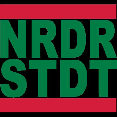 NRDRSTDT - Zeige deine Liebe zur Stadt im Norden Hamburgs. Ein schönes Geschenk für Lokalpatrioten. - Stadt,Schriftzug,Schleswig-holstein,Norderstedt,Norddeutschland,NRDRSTDT,Lokalpatriotismus,Lokal,Hamburg