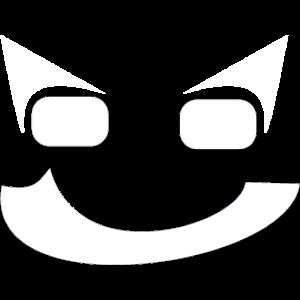 abstrakter Smiley in Weiß