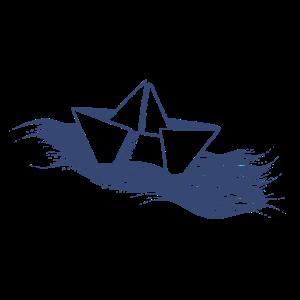 Schiff dunkelblau