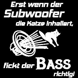 Car Hifi - Subwoofer Katze, Hifi-Shirt Bass Lover