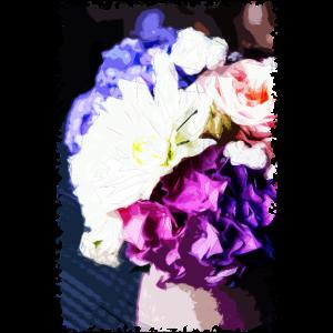 Blumen Hortensien Polygon-Kunst