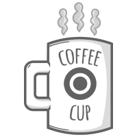 Becher mit Kaffee