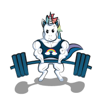 Gym Einhorn Gewichtheben Bizeps Starkes Workout