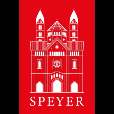 Speyer - Dom - Red - Classic Font -  - Pfalzliebe,Pfalz,Pfalzkind,Dom,Speyer