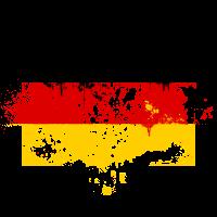 Deutschland Flagge Fahne Grunge Graffiti Stil Deutsche Fußball Meisterschaft