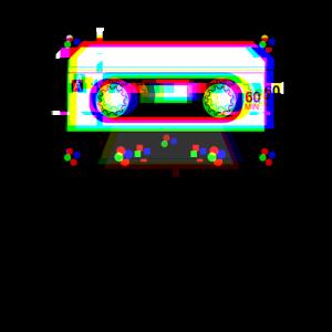 Cassette Tape Glitch 90s Retro Vaporwave Aesthetic