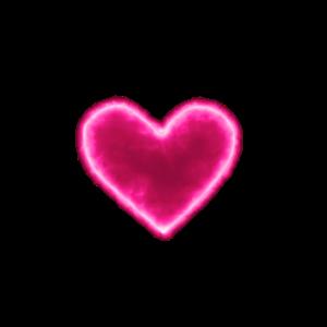 Pinkes Neon Herz Frauen T Shirt Party Geschenk