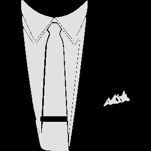 krawatte mit einstecktuch kostuem