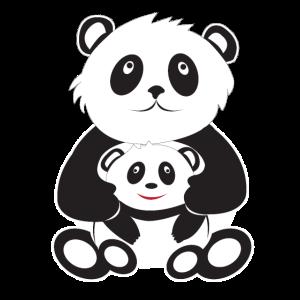 Panda Mama/Papa und Kind