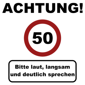 Achtung 50! Geburtstagsgeschenk 50. Geburtstag