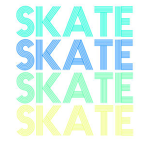skate retro neon shirt