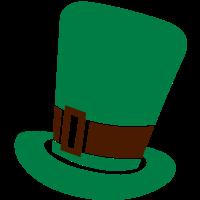 Irischer Kobold Hut St Patrick Tagesentwurf
