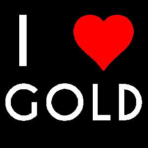 I LOVE GOLD Motiv