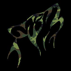 Wolf Camouflage Tier Natur Wildnis Raubtier Shirt