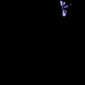 Katze mit Libelle filigran