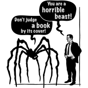 Cartoon: Horrible Beast / Don't judge a book by its cover!