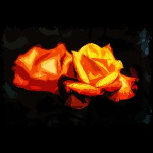 Garten Rote Rosen Polygon-Kunst