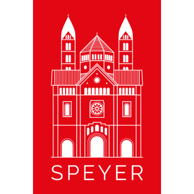 Speyer - Dom - Red - Modern Font -  - Pfalzliebe,Pfalz,Pfalzkind,Dom,Speyer