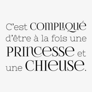 Princesse et chieuse