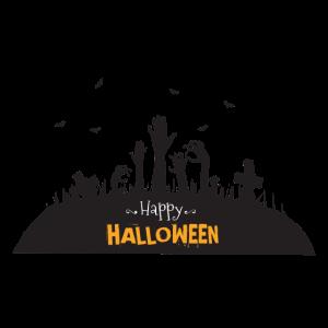 Happy Halloween Zombie Hände Friedhof