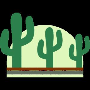 Kaktus Sonnenuntergang Retro