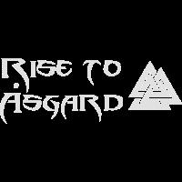 Design Rise to Åsgard mit Valknut (Vektor)