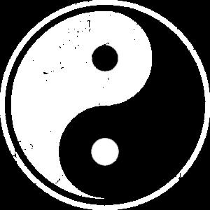 einfarbiges Yin Yang