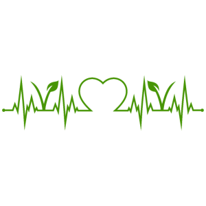 Vegan Vegetarisch Herzschlag Herz EKG Veganer grün