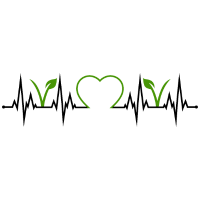 Vegan Vegetarisch Herzschlag Herz EKG Veganer