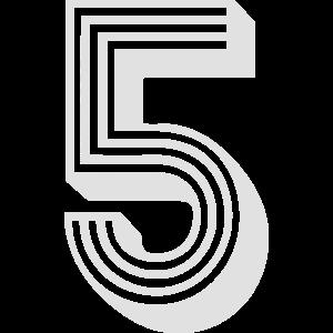 Nummer fünf 5 Zahl Sport Geschenk