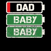 Dad Akku leer - Zwillingsvater Geburtsgeschenk