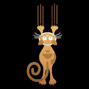 Wand Katze Kratzer Mieze Kätzchen Geschenk Idee