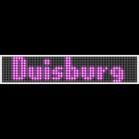 Duisburg LED Display Pink